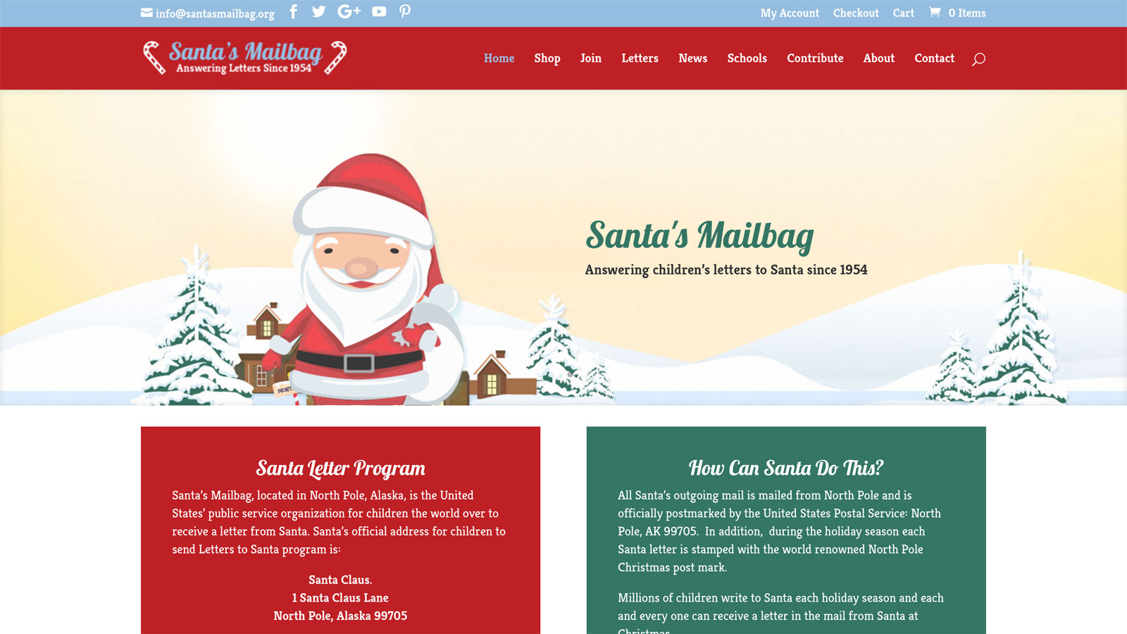 Santas mailbag think far beyond north pole non profit children withletters from santa spiritdancerdesigns Image collections